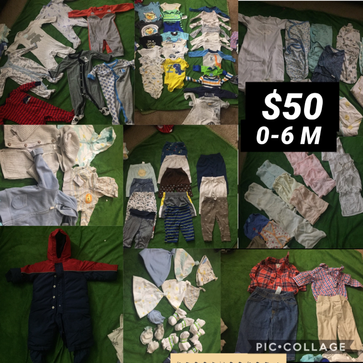 Photo 0-6 months baby boy clothes lot