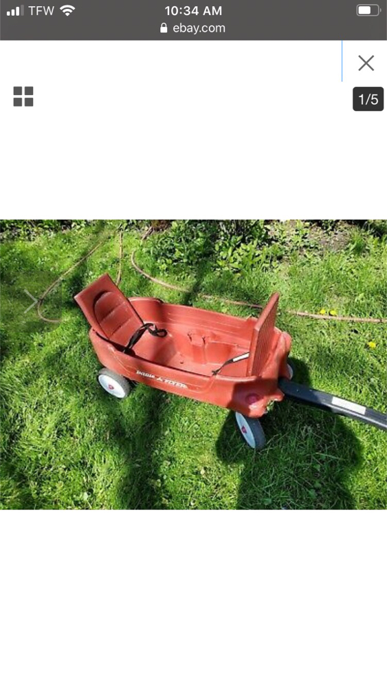 Photo Radio Flyer Wagon kids cart