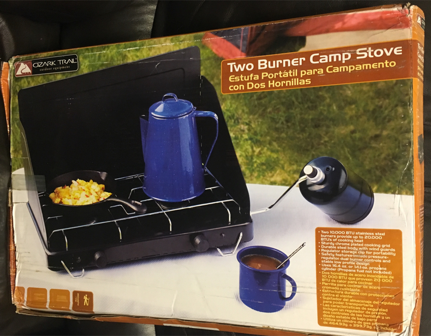 Photo Ozark Trail 2-Burner Camp Stove Propane Gas Portable Outdoor Camping Cooking brand New in the box
