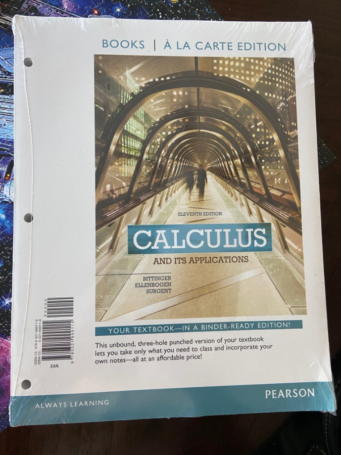 Photo Calculus and Its Applications, Books a la Carte Edition by David J. Ellenbogen, Marvin L. Bittinger and Scott Surgent (2014, Ringbound)
