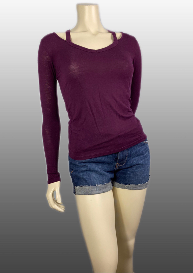 Photo American Dream Burgundy Long Sleeve Top Size Small