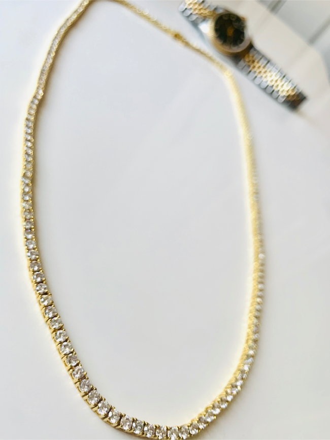 Photo Iced out tennis chain gold
