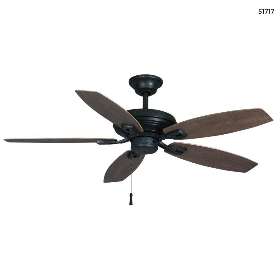 Photo Hampton Bay North Pond 52 in. Indoor/Outdoor Aged Silver Ceiling Fan