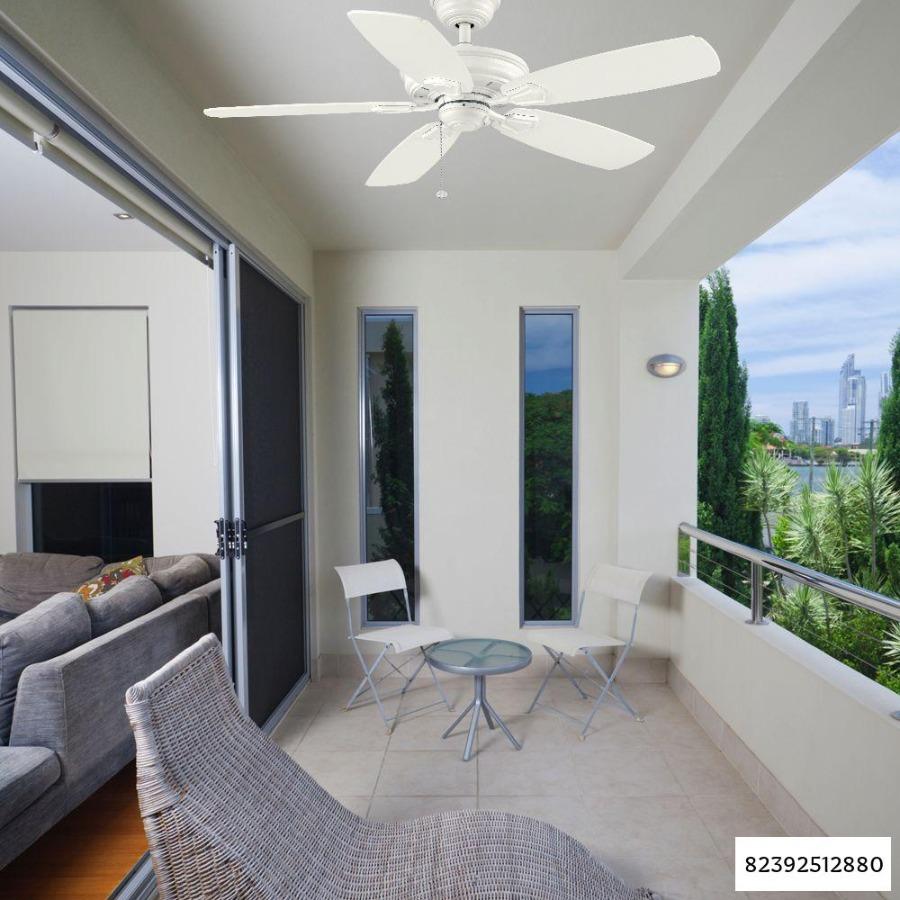 Photo Hampton Bay Heirloom 52 in. Indoor/Outdoor Matte White Ceiling Fan