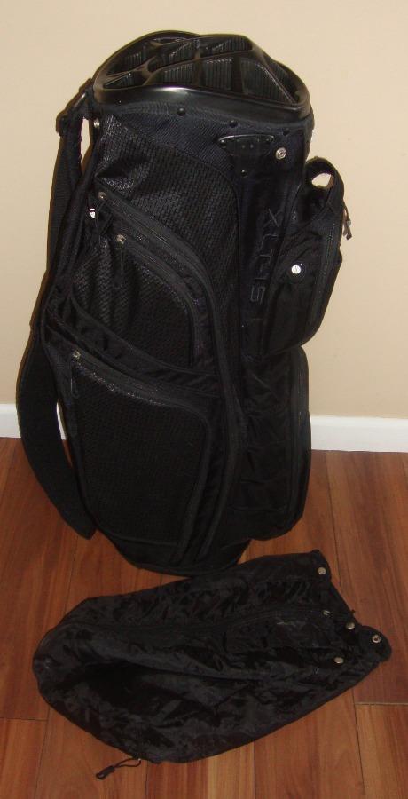 Photo Bag Boy XLT 15 Cart Golf Bag. 11 Top Divider and Rain cover