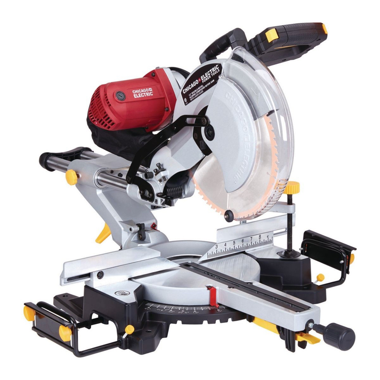 Photo 12 In. Dual-Bevel Sliding Compound Miter Saw With Laser Guide System