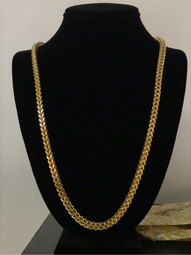 Photo 14k Gold filled Franco chain