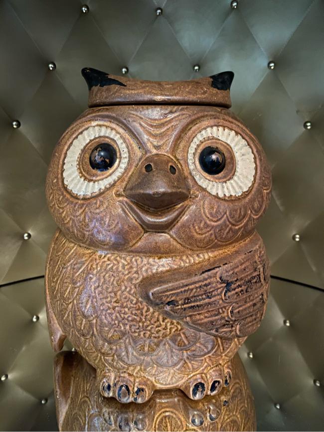Photo Vintage McCoy Pottery 204 Owl Cookie Jar