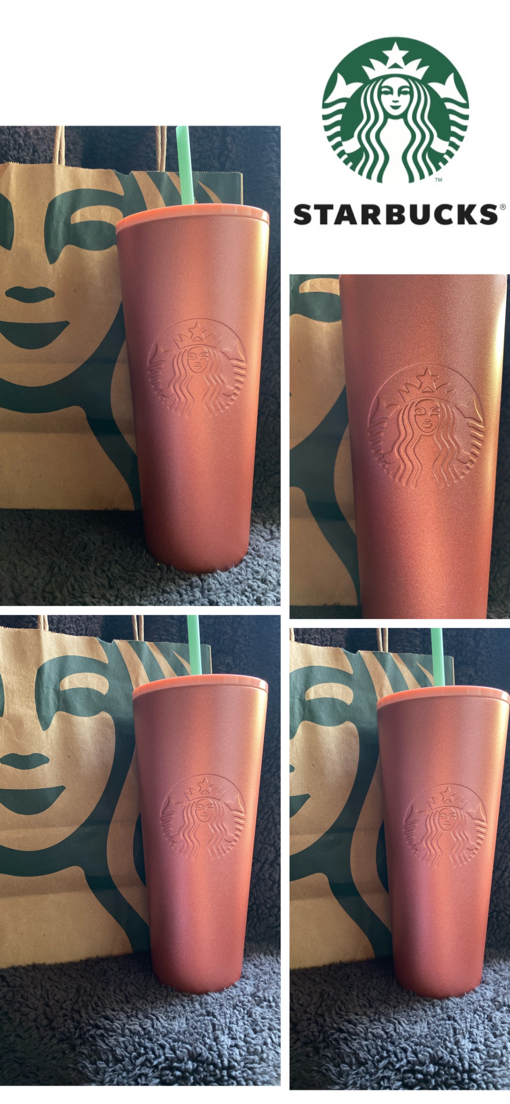 Photo Starbucks valentines Day rose gold tumbler NEW $30 💁🏻 firm Pick up Only