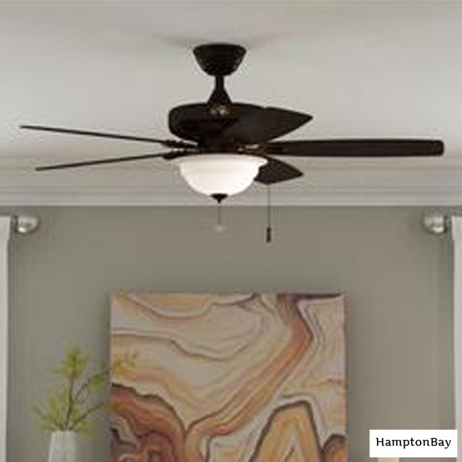 Photo Hampton Bay Gazebo II 42 in. Indoor/Outdoor Natural Iron Ceiling Fan