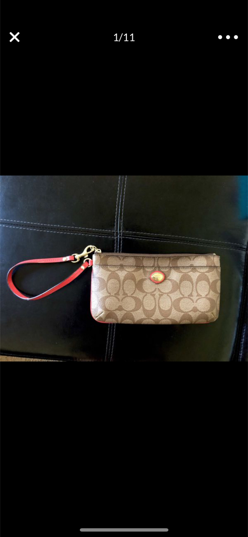 Photo Authentic Coach Purse with Strap