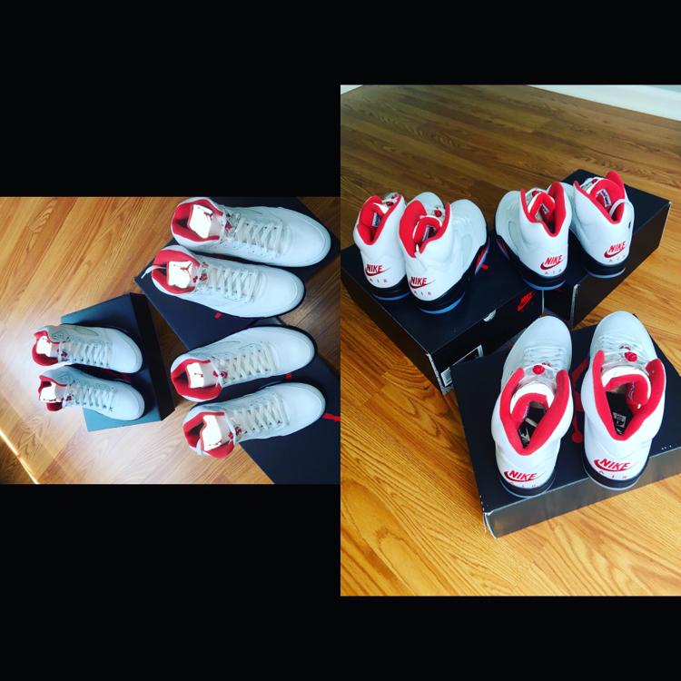 Photo Jordan 5 Retro ( Fire Red Sliver Tongue )