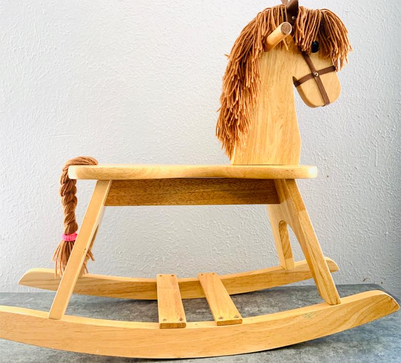 Photo Antique Wooden Rocking Horse 1998
