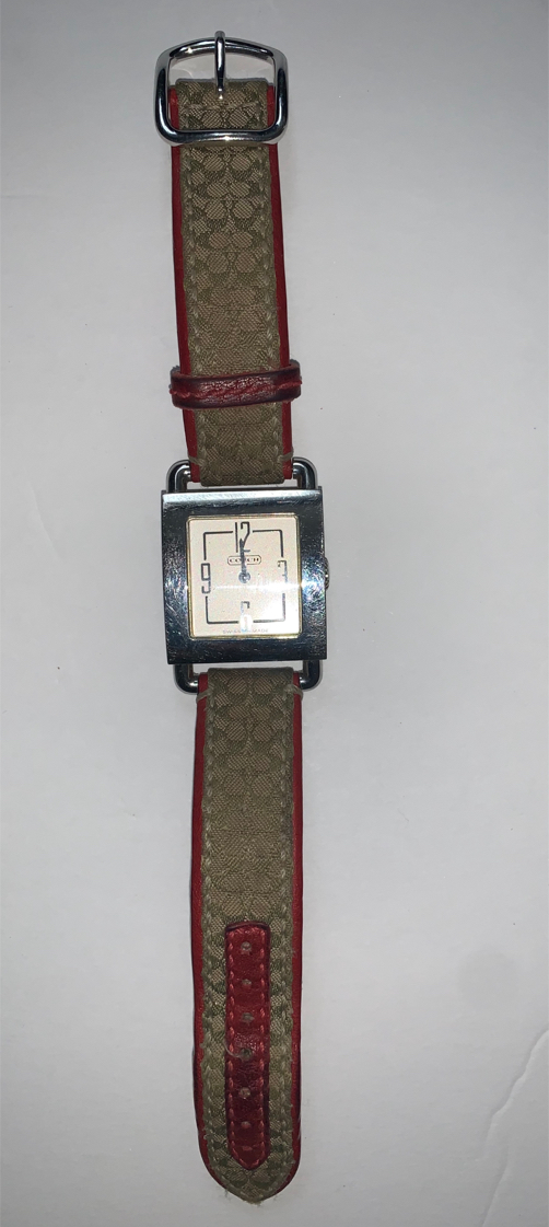 Photo Coach Womens Watch 0221 Swiss Movement Lightly Used Excellent Condition Needs Battery